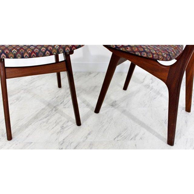 CFC Silkeborg Mid-Century Danish Modern Arne Hovmand Olsen Teak Oval Dining Set For Sale - Image 4 of 13