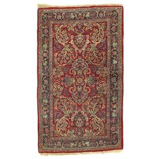 1920s Vintage Persian Sarouk Lilian Rug - 3′ × 5′4″ For Sale