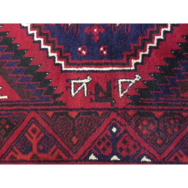 Handmade Persian Luri Rug - 7″ × 11″ - Image 8 of 11