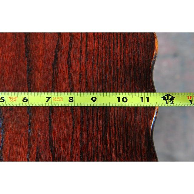 """Oak Antique American Designer 36"""" Fern Stand For Sale - Image 7 of 9"""