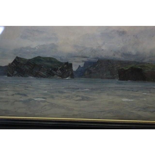 Gouache Zeno Diemer Harbor Scene Painting For Sale - Image 7 of 8