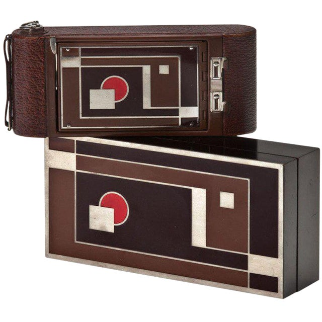 "Rare Walter Dorwin Teague Designed Kodak ""1A Gift"" Camera with Case For Sale"