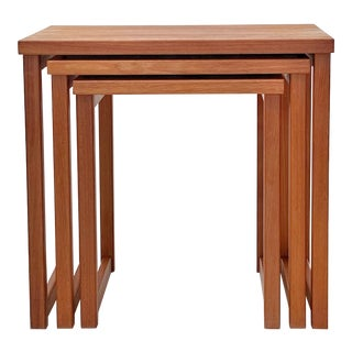 1960s Kai Kristiansen - Teak Danish Nesting Tables - Set of 3 For Sale