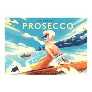 Danish Modern Prosecco Alcohol Poster For Sale