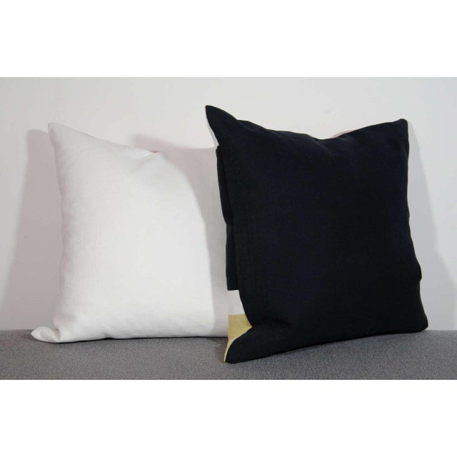 Architectural Italian Linen Throw Pillows by Arguello Casa For Sale In New York - Image 6 of 7