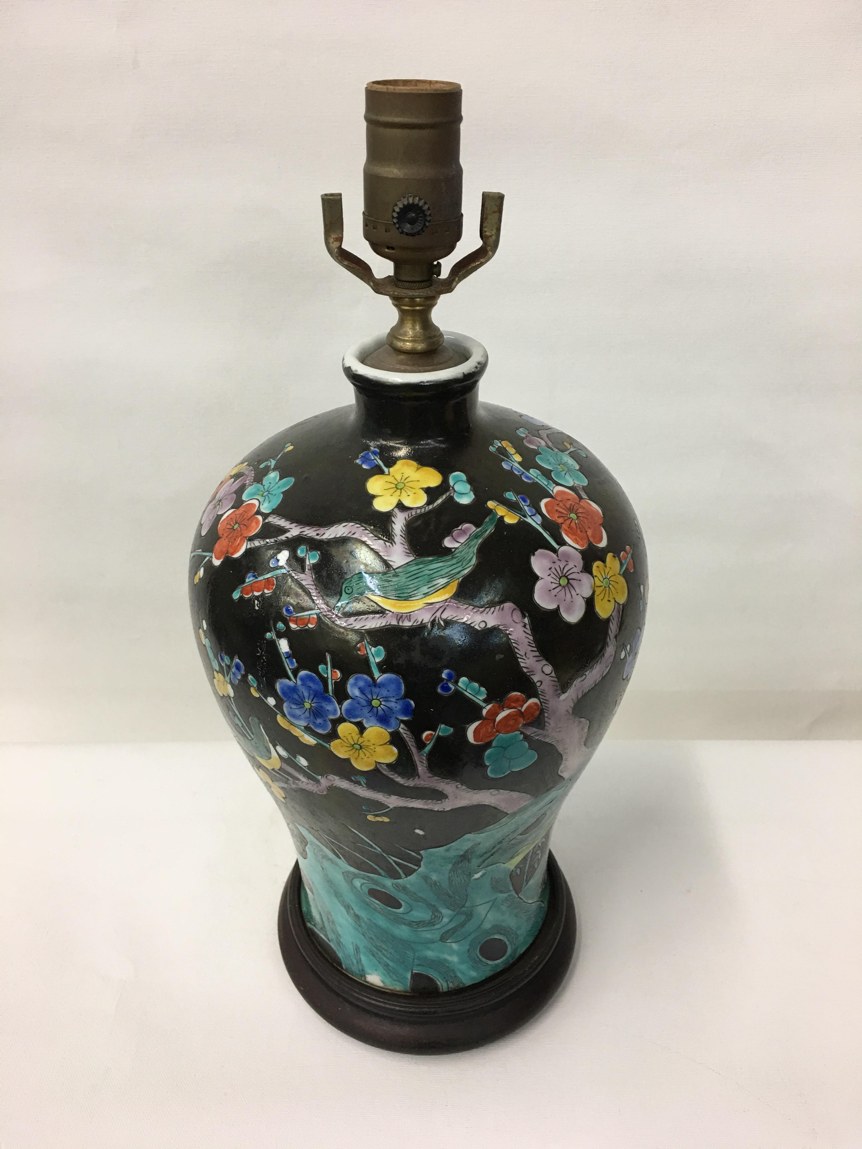 Multicolor Cherry Blossom Table Lamp Chairish