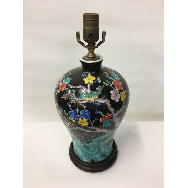 Multicolor Cherry Blossom Table Lamp For Sale - Image 4 of 5