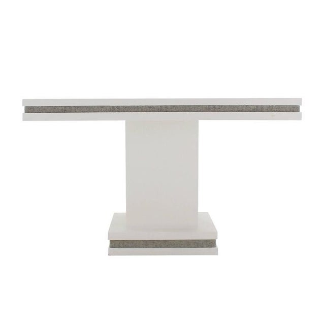 Mid-Century Modern Vintage Mid Century Square White Lacquer Cloth Finish Game Table For Sale - Image 3 of 8