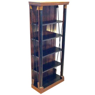 Regency Style Carved Mahogany and Giltwood Bookcase For Sale