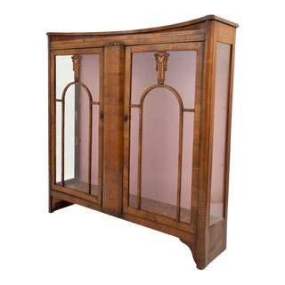 Biedermeier Style Vitrine Art Deco Cabinet For Sale