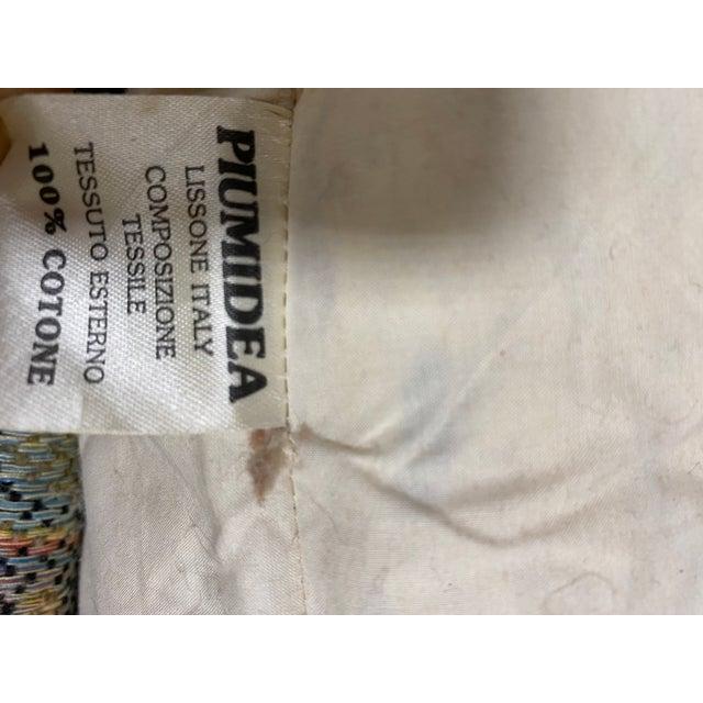 Saffron 1990s Vintage Italian Etro Paisley Tapestry Fabric Sofa For Sale - Image 8 of 12