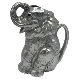 Arthur Court Cast-Aluminum Elephant Pitcher For Sale