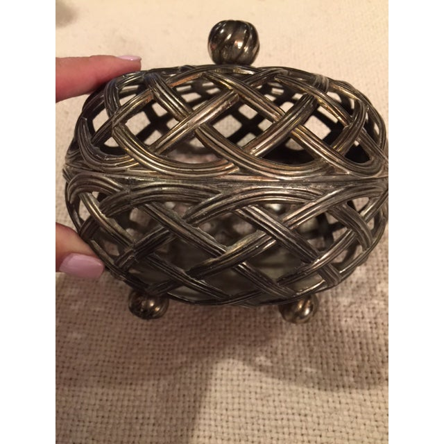 Antique Silver Caged Box - Image 3 of 7