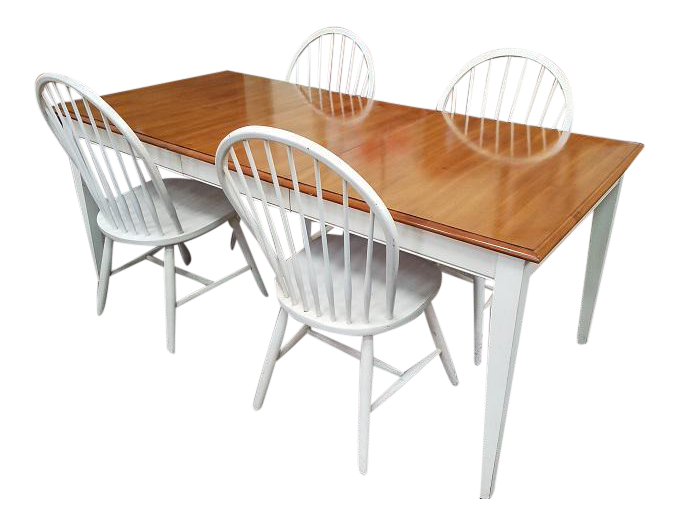 Ethan Allen Vintage Dining Table \u0026 Chairs - Set ...  sc 1 st  Chairish & Vintage \u0026 Used Dining Table \u0026 Chair Sets | Chairish