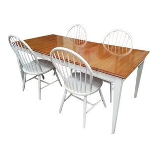 Ethan Allen Vintage Dining Table & Chairs - Set of 5
