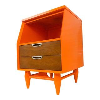 Mid-Century Modern Orange Nightstand