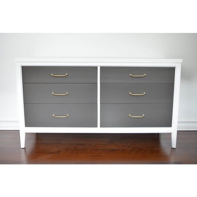 Mid-Century Modern White & Gray Dresser - Image 10 of 10