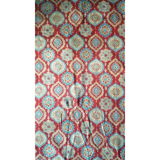 Block Printed Cotton Velvet Fabric- 10 Yards For Sale