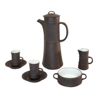 Dansk Flamestone Coffee Set by Jens Quistgaard - Set of 5 For Sale