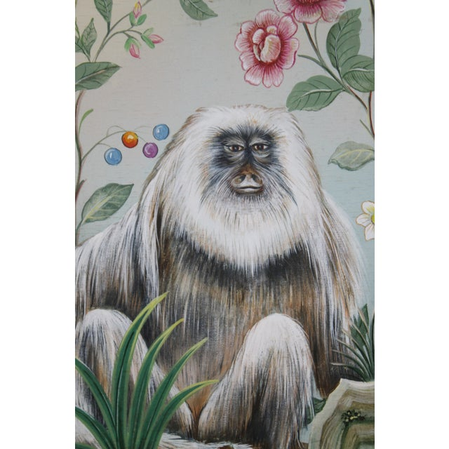 Asian Late 20th Century Decorative Monkey Painting For Sale - Image 3 of 8
