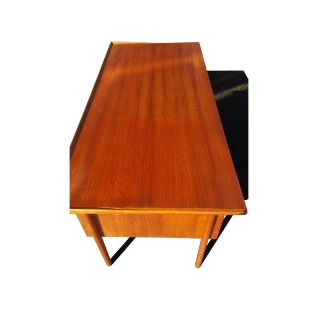 Brown Danish Mid-Century Modern President Desk by Peter Lovig Nielsen For Sale - Image 8 of 10