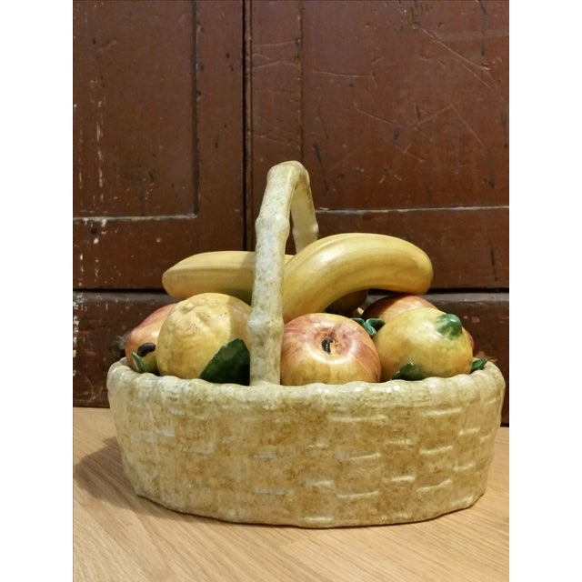 Vintage Italian Ceramic Fruit Basket - Image 2 of 7
