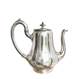 Antique Christofle Silver Plated Teapot From Grand Hotel Paris For Sale