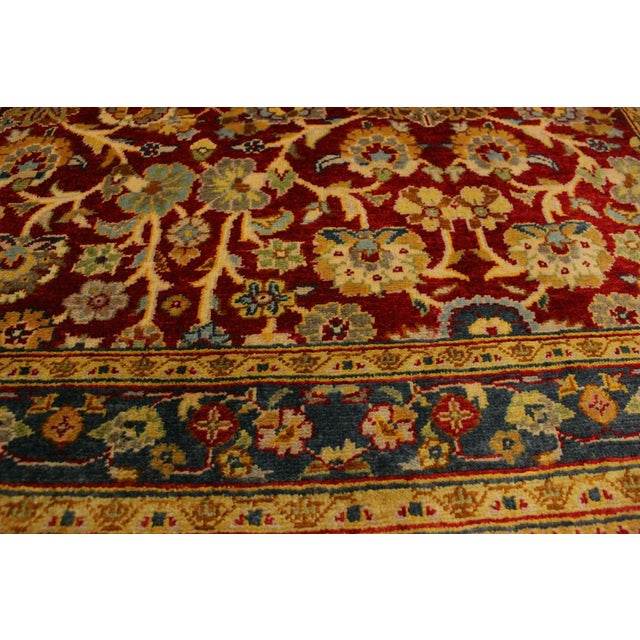 Textile Istanbul Sidney Red/Teal Turkish Hand-Knotted Rug -3'2 X 5'1 For Sale - Image 7 of 8