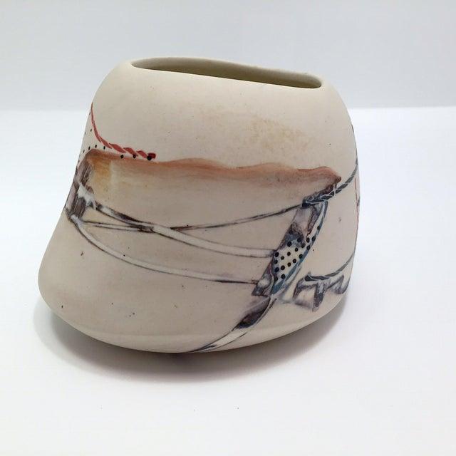 Late 20th Century Fine Art Contemporary Ceramic Vessel - Image 4 of 13