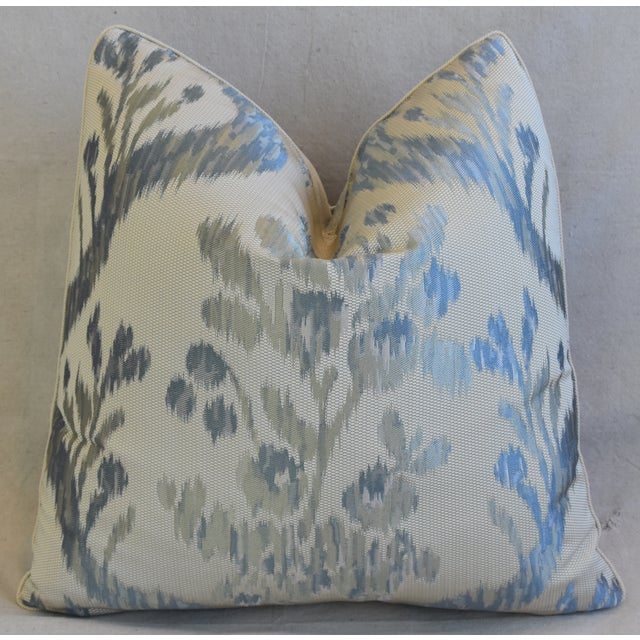 "Cotton Old World Weavers Jacquard Silk Feather/Down Pillow 21"" Square For Sale - Image 7 of 7"