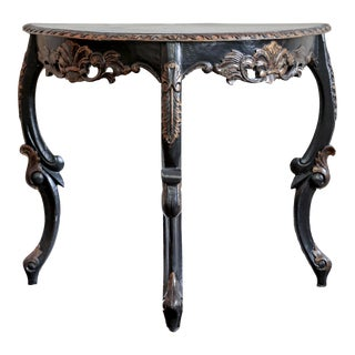 20th Century Rococo Style Wall Console Table For Sale