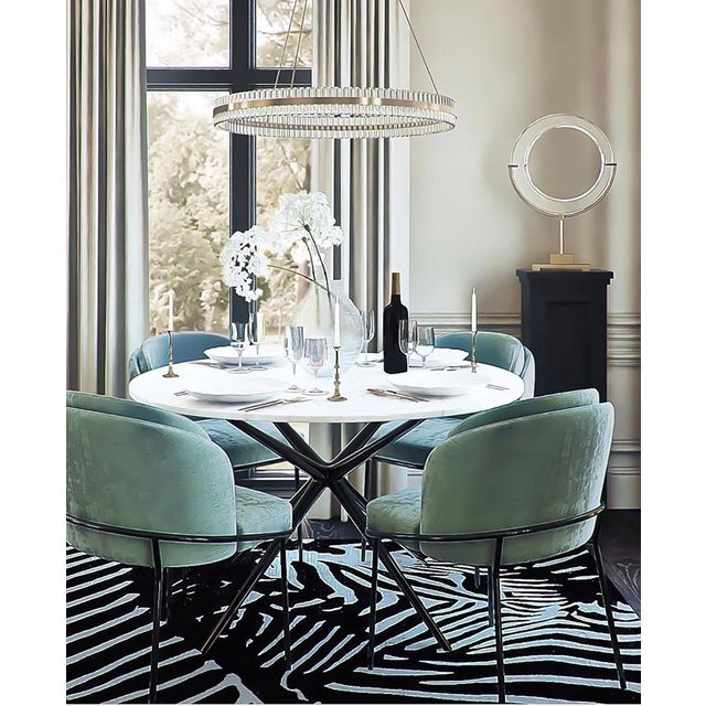 Modern Baron Sea Foam Dining Chair For Sale - Image 4 of 5