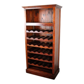 Vintage American Handmade Mahogany Wine Cabinet For Sale
