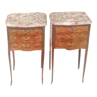 C. 1900 Pair French Side Tables For Sale