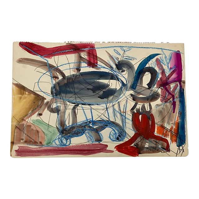 1940s Vintage Josef Presser Abstract Composition For Sale