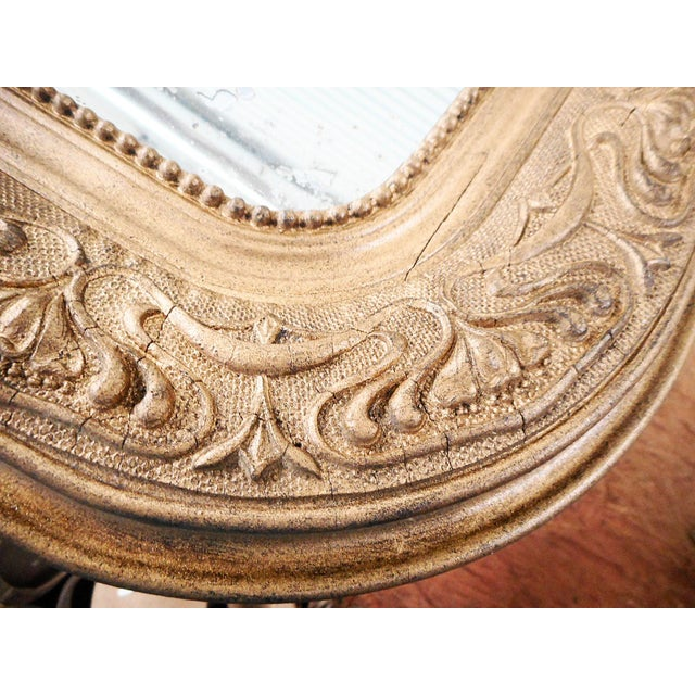 1900 - 1909 Early 20th Century Antique French Art Nouveau Patinated Gold Mirror For Sale - Image 5 of 9