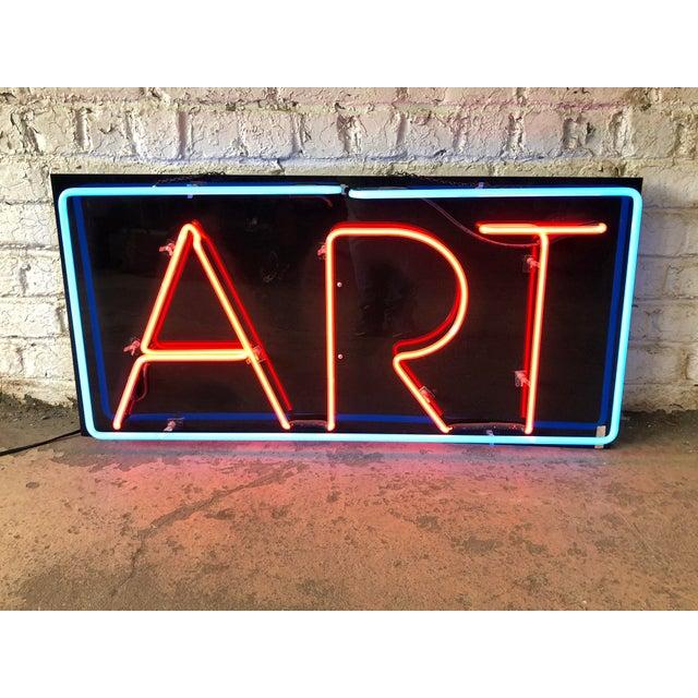 "Modern Vintage Custom Neon ""Art"" Sign For Sale - Image 3 of 8"