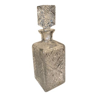 Heavy Crystal Whiskey Decanter For Sale