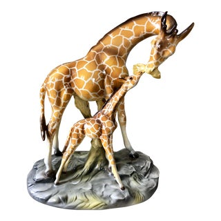 Vintage Italian Ceramic Giraffes For Sale
