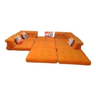 Mid Century Vintage Roche Bobois Mah Jong Modular Sectional Sofa For Sale