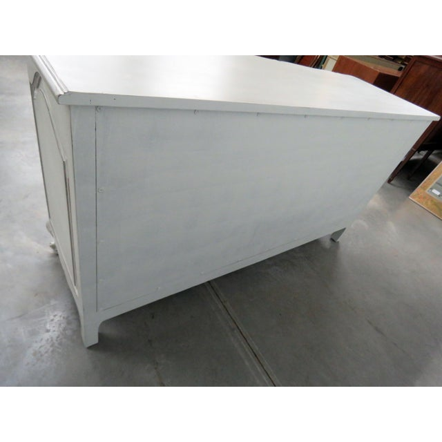 Paint 20th Century French Country Painted Decorated Dresser For Sale - Image 7 of 10