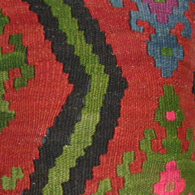 Rug and Relic Red Kilim Pillow - Image 2 of 2