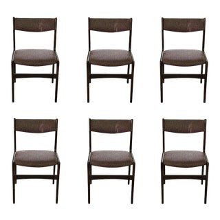 Dark Wood Dining / Side Chairs - Set of 6 For Sale