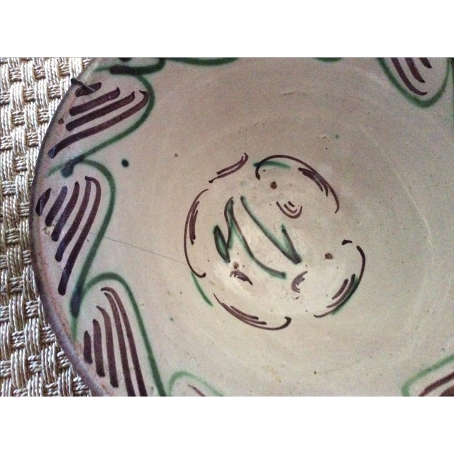 Arts & Crafts Antique Spanish Hand-Painted Bowl For Sale - Image 3 of 5
