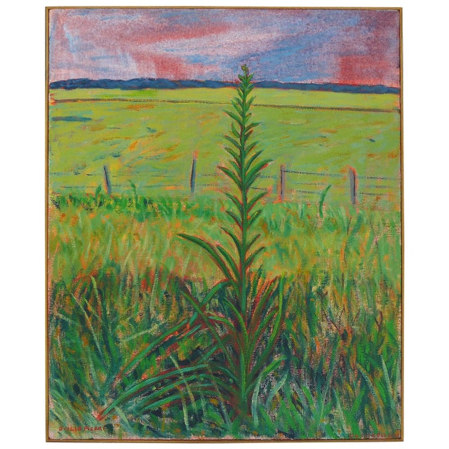 Green Late 20th Century Landscape Oil on Canvas by Duilio Pierri For Sale - Image 8 of 8