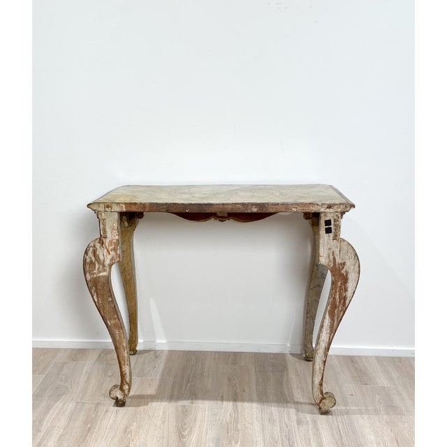 Wood Italian Baroque Style Console Table For Sale - Image 7 of 8
