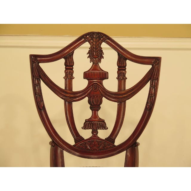 Brown Maitland Smith Carved Mahogany Dining Room Chairs - Set of 4 For Sale - Image 8 of 13