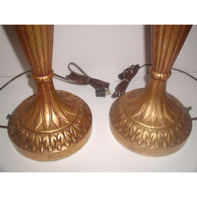 20th Century Rewired Italian Gilt Swag Lamps - 2 - Image 4 of 10