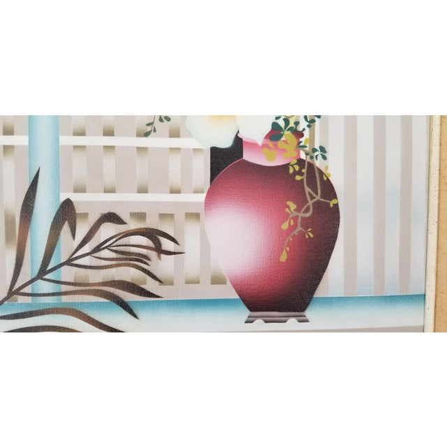1980s 80s Reibel Postmodern Still Life Painting For Sale - Image 5 of 13