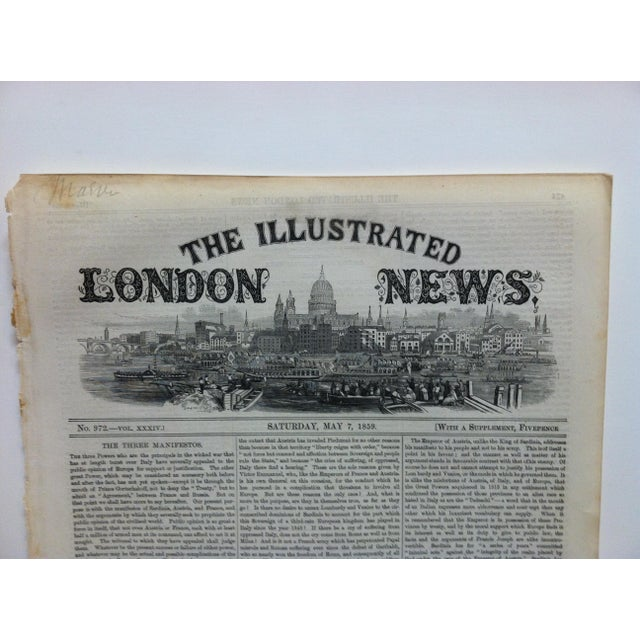 "This is an Antique Original Print from The Illustrated London News that is titled ""Turin - The Seat of the Monarchy"" and..."